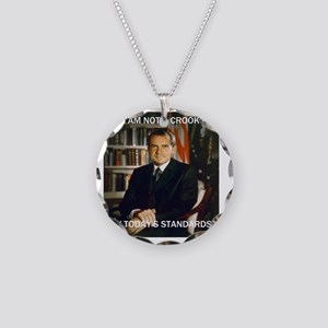 i am not a crook Necklace Circle Charm