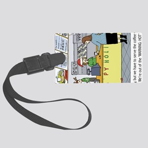 coffeeholidayhorz Large Luggage Tag