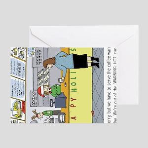coffeeholidayhorz Greeting Card