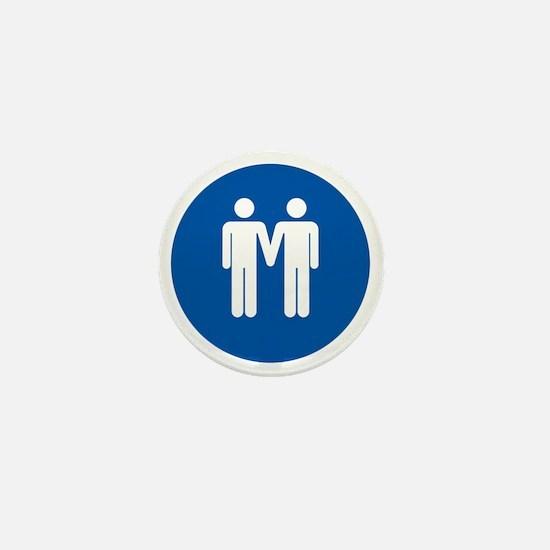 Man on Man Love in Blue Mini Button