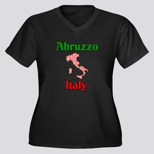 Abruzzo Italy Women's Plus Size V-Neck Dark T-Shir