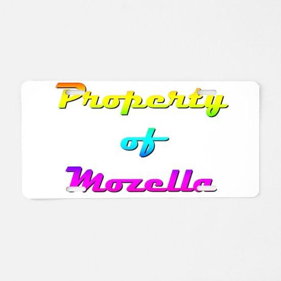 Property Of Mozella Female Aluminum License Plate
