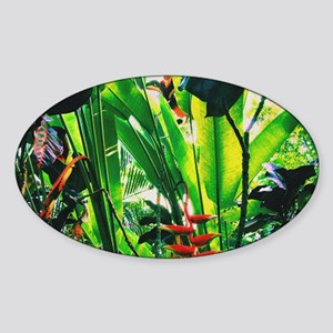 Tropical 2 Sticker (Oval)