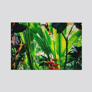 Tropical 2 Rectangle Magnet