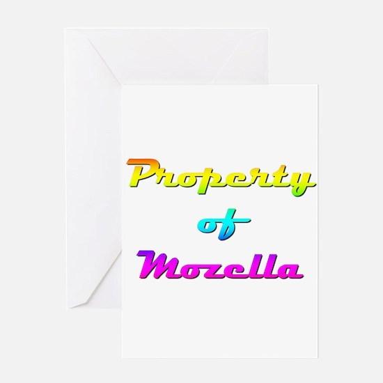 Property Of Mozella Female Greeting Cards