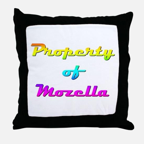 Property Of Mozella Female Throw Pillow