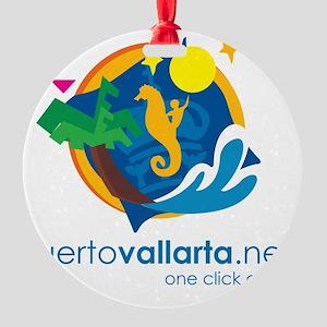 PuertoVallarta.net Logo Round Ornament