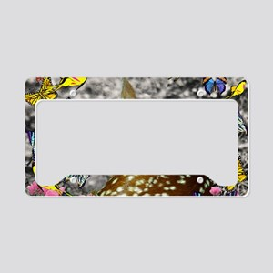 Bambina the Fawn in Butterfli License Plate Holder