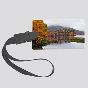 Fall Reflections  Large Luggage Tag