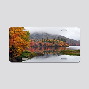 Fall Reflections  Aluminum License Plate