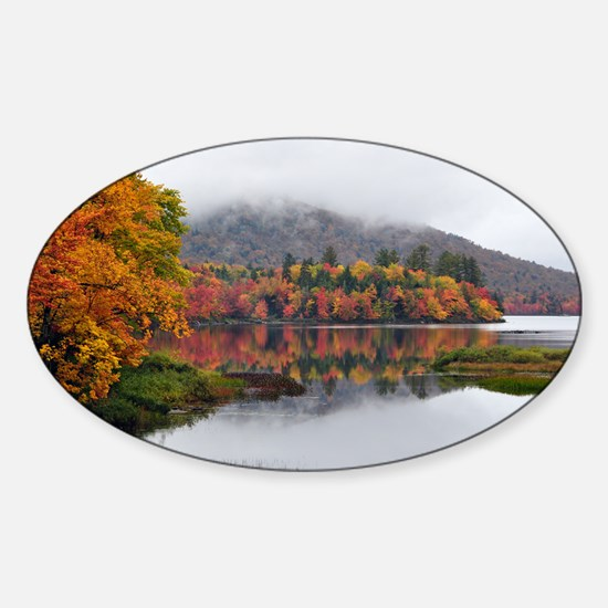 Fall Reflections  Sticker (Oval)