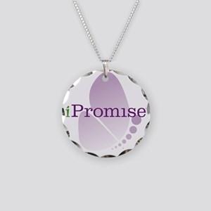 iPromise Butterfly Logo Necklace Circle Charm