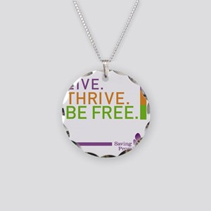 Saving Promise Icon with LIV Necklace Circle Charm