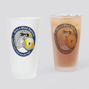 9-Ball Blind Squirrel Drinking Glass