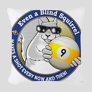9-Ball Blind Squirrel Woven Throw Pillow
