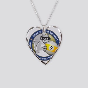 9-Ball Blind Squirrel Necklace Heart Charm