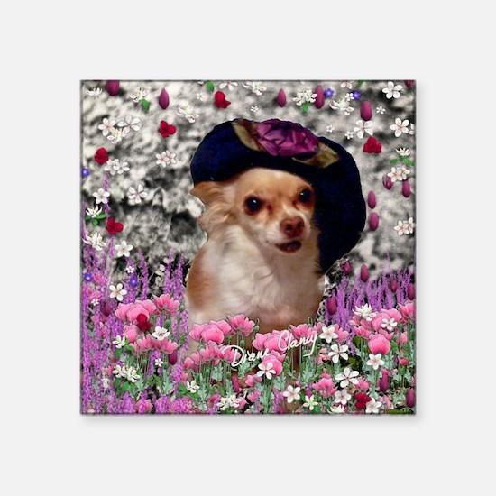 """Chi Chi the Chihuahua in Fl Square Sticker 3"""" x 3"""""""