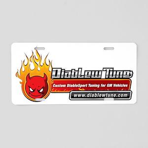 DiabLew Tune Aluminum License Plate