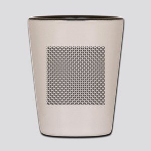 Black mesh pattern Shot Glass