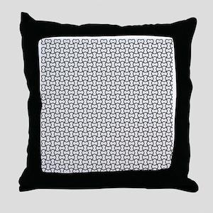 Black mesh pattern Throw Pillow