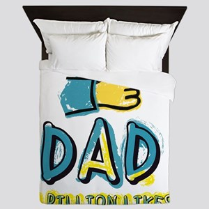 A billion Likes for Dad Queen Duvet