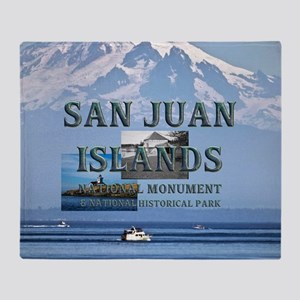 sanjuanislandssq2 Throw Blanket
