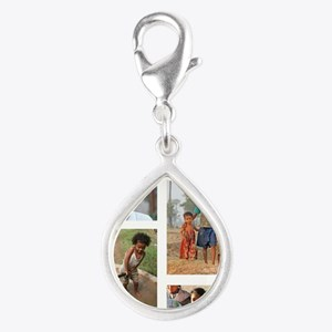 Cultivating Hope Silver Teardrop Charm