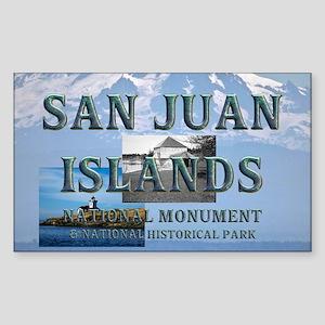 sanjuanislands1a Sticker (Rectangle)