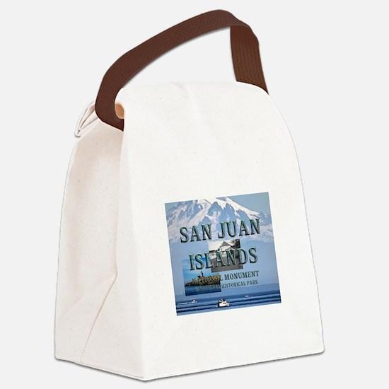 sanjuanislands1a Canvas Lunch Bag