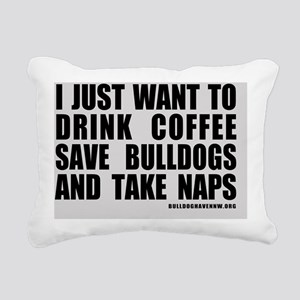 CoffeeBulldogsNaps Rectangular Canvas Pillow
