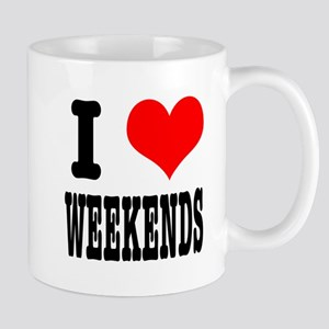 I Heart (Love) Weekends Mug