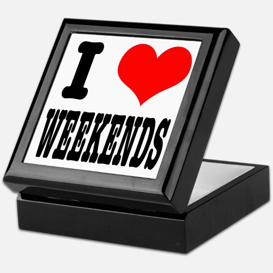 I Heart (Love) Weekends Keepsake Box