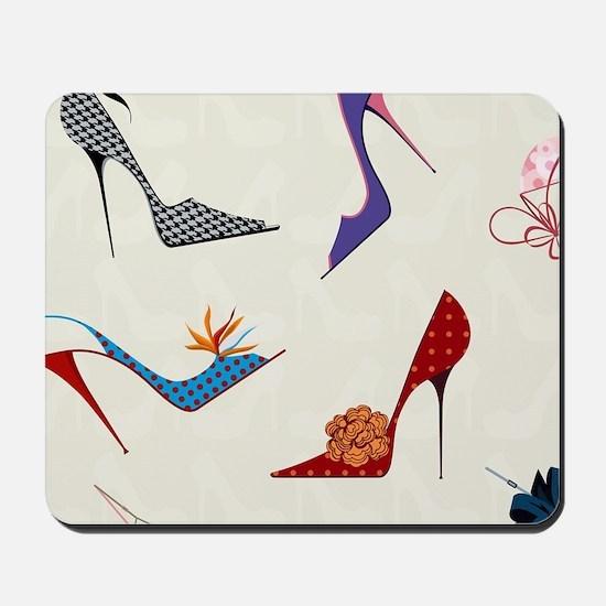 High Heels Seamless Pattern. Mousepad