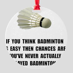 Badminton Easy Round Ornament