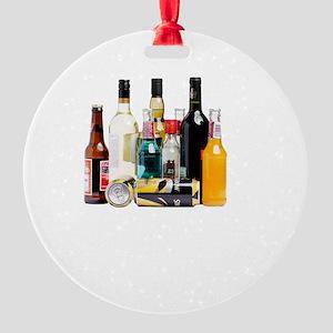 Alcohol Job Round Ornament