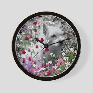 Violet Flow King Duvet-8064wx6912h Wall Clock