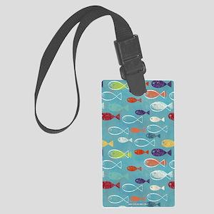 Cute Summer Beach Fish Large Luggage Tag