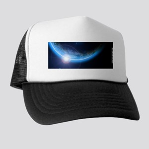 Outer Space Solar Eclipse Trucker Hat