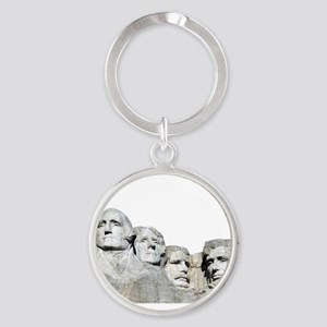 Rushmore Rock You Round Keychain