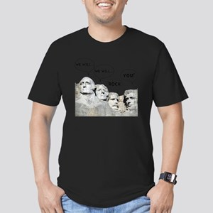 Rushmore Rock You Men's Fitted T-Shirt (dark)