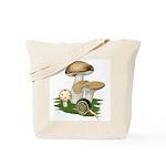Snail in Mushroom Garden Tote Bag
