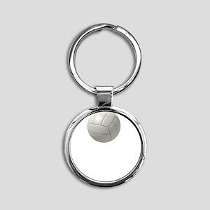 Volleyball Easy Round Keychain