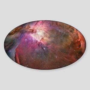 Orion Outerspace Nebula Sticker (Oval)
