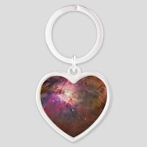 Orion Outerspace Nebula Heart Keychain