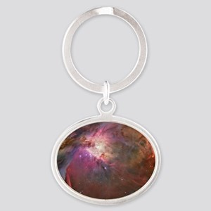 Orion Outerspace Nebula Oval Keychain