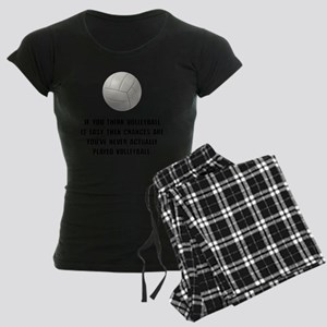 Volleyball Easy Women's Dark Pajamas
