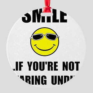 Smile Undies Round Ornament