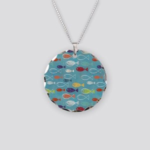 Cute Summer Beach Fish Necklace Circle Charm