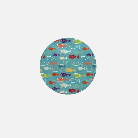 Cute Summer Beach Fish Mini Button