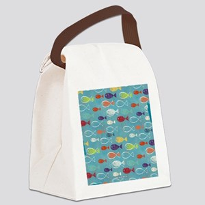Cute Summer Beach Fish Canvas Lunch Bag